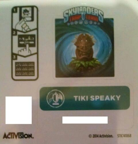 Code Only! Tiki Speaky Skylanders Trap Team Sticker