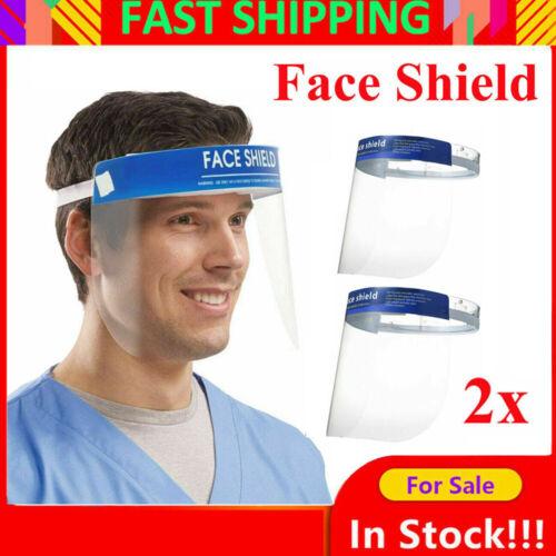 2 PCS Anti-fog Empty Top Cap Full Face Splash proof Face Protective shield Hat@