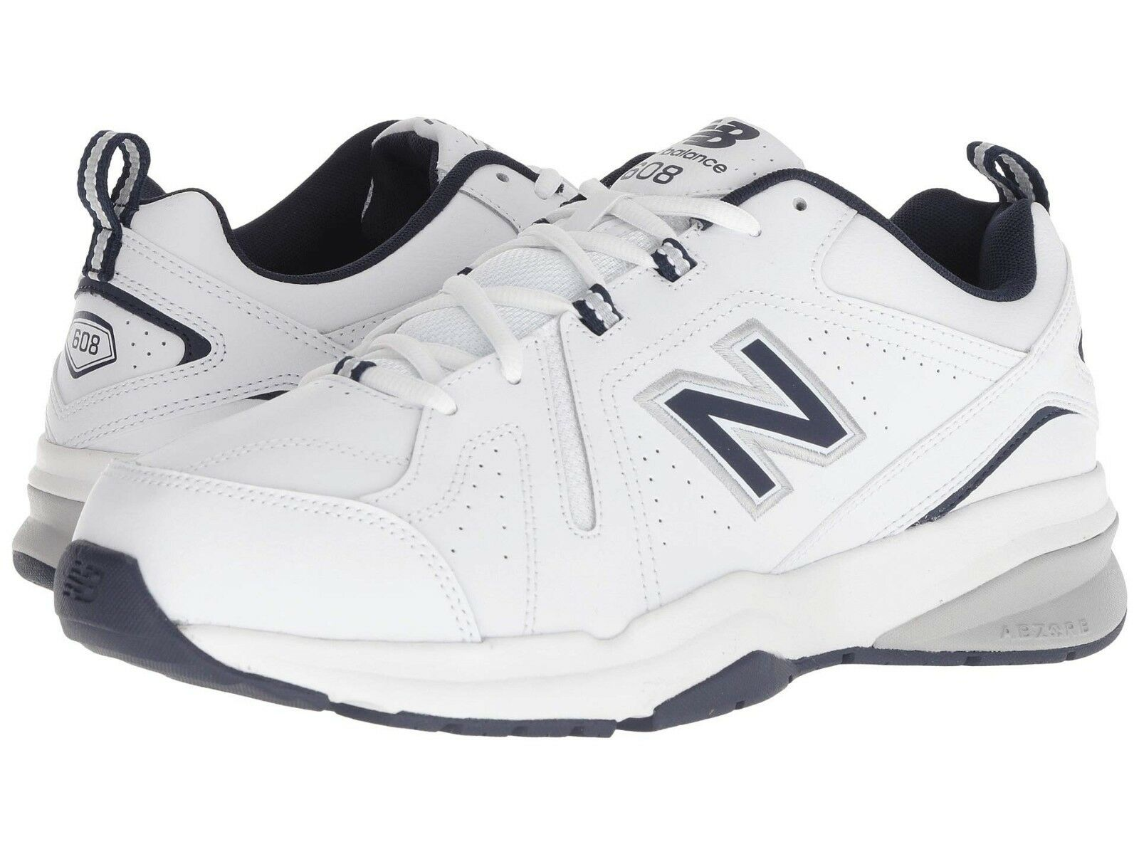 NEW Mens New New New Balance 608v5 Weiß Navy Leather Athletic Training schuhe AUTHENTIC 9f4d7e
