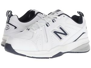 Details about NEW Mens New Balance 608v5 White Navy Leather Athletic Training Shoes AUTHENTIC
