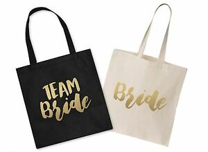 Image Is Loading Team Bride Wedding Canvas Tote Bag Bridal Shower