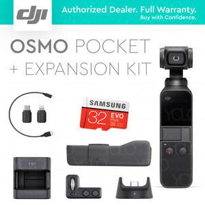 DJI Osmo Pocket + Expansion Kit. 32GB Card. Controller Wheel. Wireless Module.