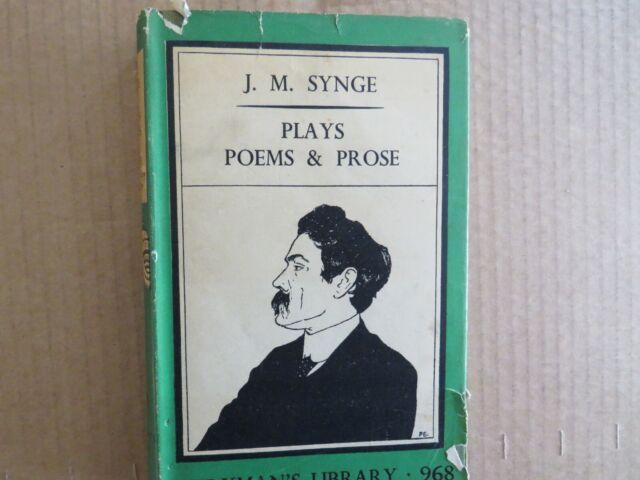 J.M.Synge. Plays, Poems and Prose. Everyman's Library 968 hardback 1941