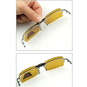 1pc-Yellow-Polarized-Clip-on-wear-over-sunglass-glasses-eyeglass-spectacle-lens
