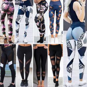 Mujer Stretch Gimnástico Leggings Sport Leggins Pantalones Correr Fitness Yoga