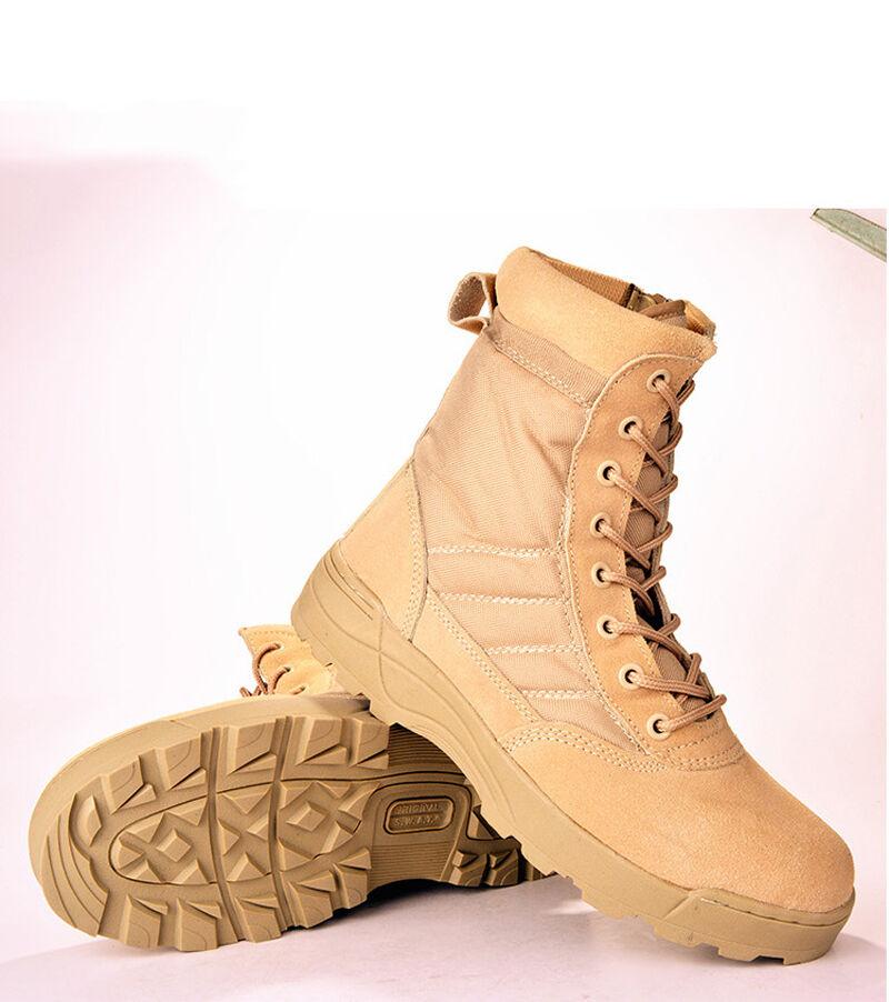 Uomo Military Tactical Combat Combat Tactical Hiking Ankle Stivali Outdoor Comfort Desert scarpe 315ac6