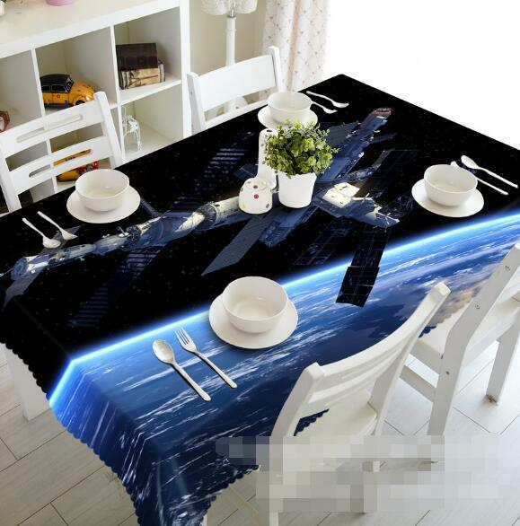 3D Spacecraft 126 Tablecloth Table Cover Cloth Birthday Party Event AJ WALLPAPER