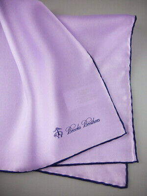 BROOKS BROTHERS Silk Pocket Square Handkerchief 100/% Silk Pink NWOT $45 New