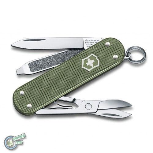 0.6221.L17 35274 VICTORINOX Swiss Army Knife Classic Standard Alox Olive Green
