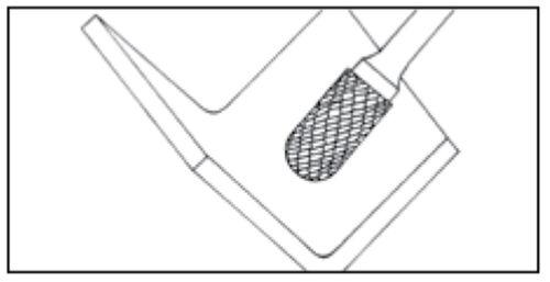 """SC-51 Cylinder Shape Ball 1//4/"""" Diameter Carbide Burr DoubleCut"""