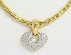Chimento pave diamond heart pendant 18k yellow gold 175ctw ebay image is loading chimento pave diamond heart pendant 18k yellow gold aloadofball Images