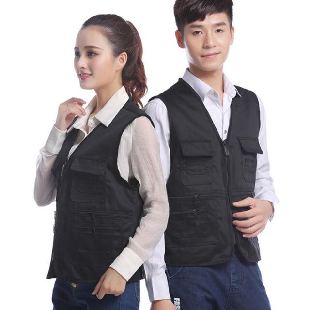 Fashion Mens Utility Multi Pocket Mesh Vest Hunting Shooting Fishing Waistcoat