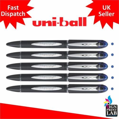 5 X Blau Uni-Ball Jetstream SX-210 Premium Kugelschreiber 1.0 Punkt Schwarz Body