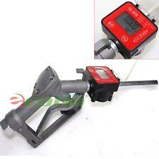 Fuel Gasoline Diesel Petrol Oil Gun Manual Nozzle Dispenser Withdigital Flow Meter