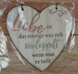 Ein Heart-Shaped Tin Sign What Doubled Love