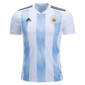 adidas-Men-039-s-Argentina-18-19-Home-Jersey-White-Clear-Blue-BQ9324
