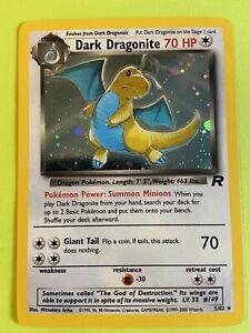 Dark Dragonite 5/82 Pokémon Holo rocket Card BONUS RANDOM 1ST EDITION Read Desc