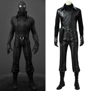 b209c6f8506 Spider-man Noir Cosplay Costume Black Jacket Superhero Halloween ...