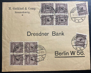 1923 Braunschweig Germany Inflation rate Commercial Cover To Berlin