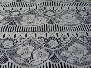 1m tissu voilage rideau cuisine chambre blanc l75 neuf. Black Bedroom Furniture Sets. Home Design Ideas