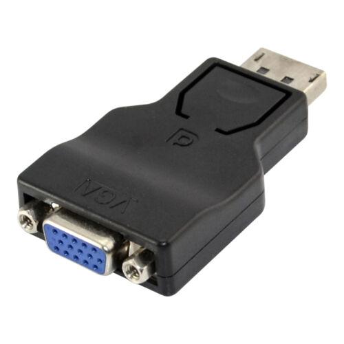 PC DisplayPort Display Port DP Male to VGA Female Adapter Converter TFT LCD TV