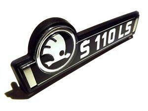 Skoda-110LS-rear-trunk-badge-S110LS-complete-set