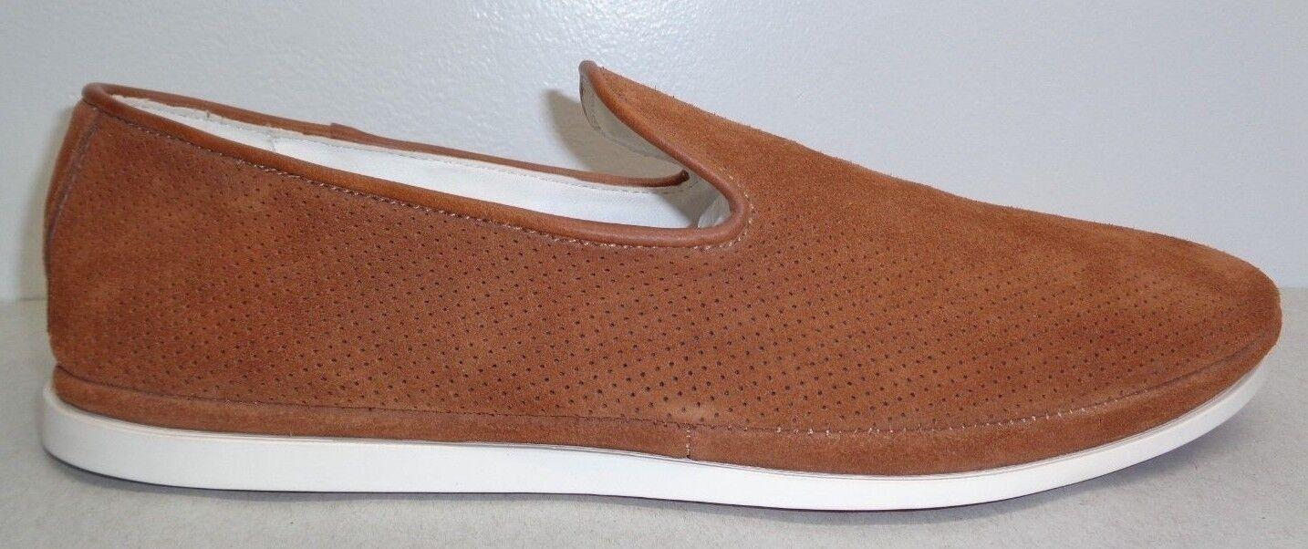 Steve Madden Taglia 11 M DRIFT Tan Suede Pelle Slip On Loafers New Uomo Scarpe