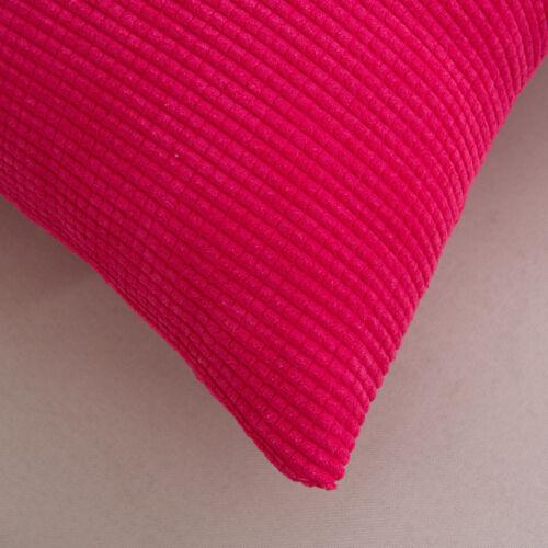 Plain Plaids Checks Cotton Cushion Cover Pillow Case Home Sofa Décor