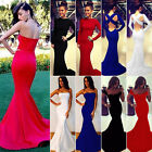 Women Formal Dress Bodycon Mermaid Gown Prom Ball Bridesmaid Cocktail Party Club