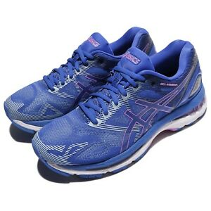 Asics-Gel-Nimbus-19-Blue-Purple-Violet-Women-Running-Shoes-Sneakers-T750N-4832