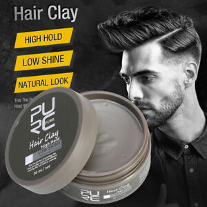 PURC-Men-039-s-Cement-Clay-80ml-Hair-Styling-Wax-High-Hold-Barber-Styling-D
