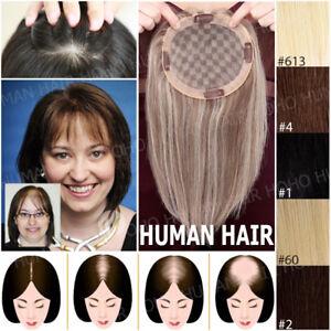 150-Clip-In-European-Human-Hair-Hairpiece-Women-Topper-Top-Pieces-Toupee-Weaves