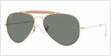f75da7d389e Ray Ban Outdoorsman II Rb3407 001 58mm Arista Gold Frame G-15xlt Green  Lenses