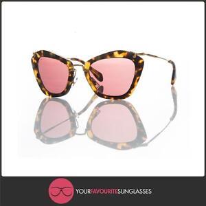 b8b7d6a4802 New Authentic MIU MIU Womens Sunglasses SMU 10N 7S0 0A0 Blonde ...