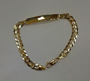 Image Is Loading 7mm14k Solid Yellow Gold Cuban Link Women Men