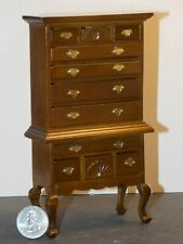 Queen Anne Highboy chest  M0754  miniature dollhouse furniture wood 1//12 scale