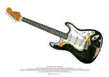 Jimi Hendrix's Astoria Stratocaster ART POSTER A2 size