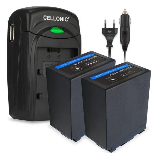 cargador Batería 2x para Panasonic cga-d54s vw-vbd58 ag-vbr118 vw-vbd29 7800mah