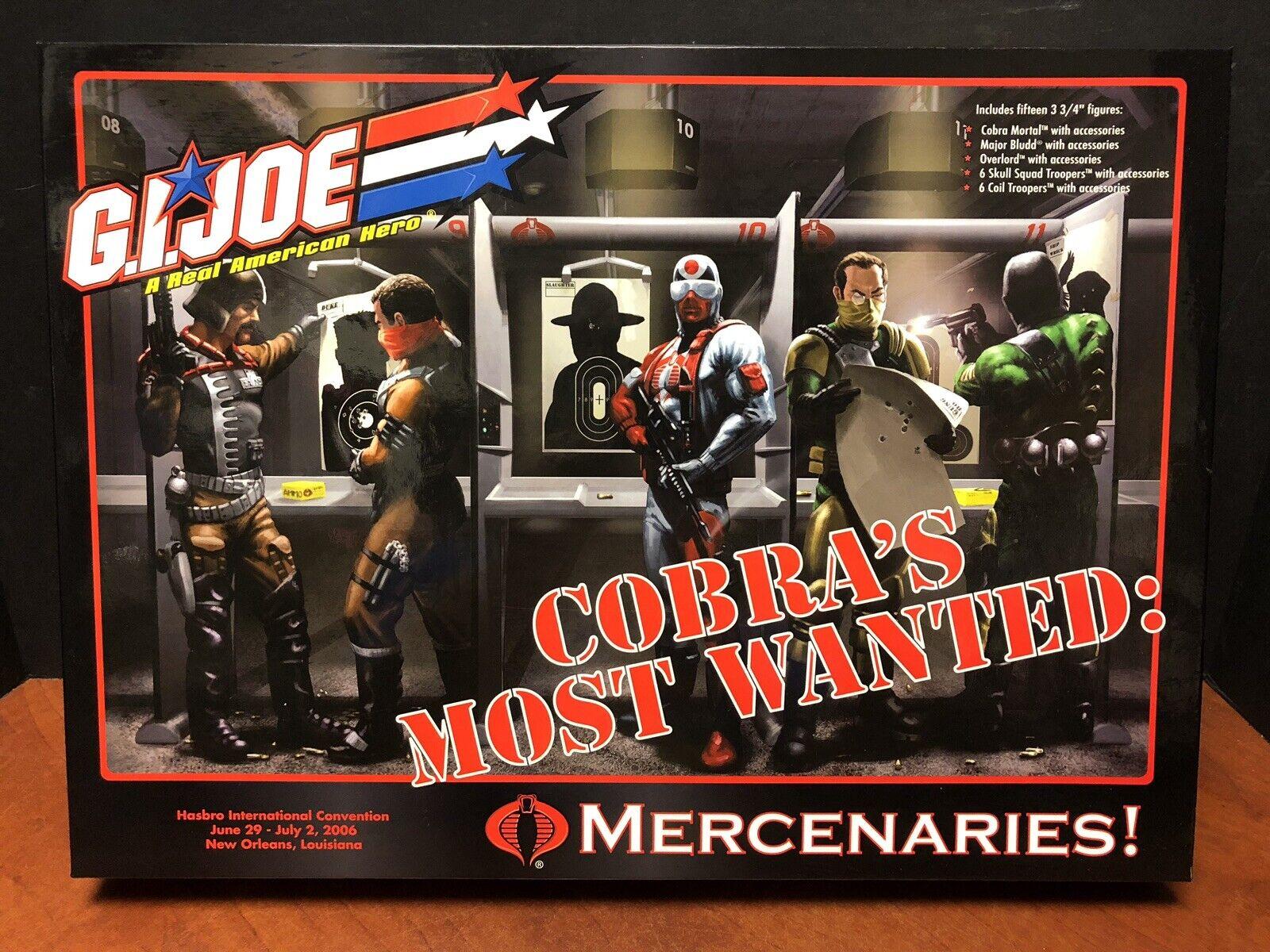 GI Joe 2006 Convention Cobras Most Wanted Mercenaries Complete Dela0408