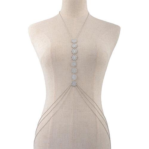 Women Body Chain Jewelry Bikini Waist Alloy Belly Beach Harness Slave Necklac PE