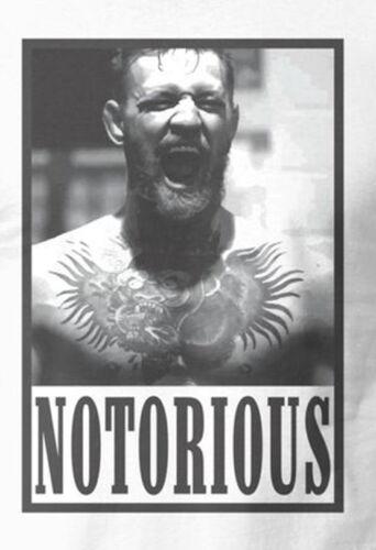 CONOR MCGREGOR NOTORIOUS **UFC OLDSKOOL CUSTOM ARTWORK** T-Shirt *OPTIONS*