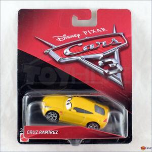 Disney Pixar Cars 3 Cruz Ramirez Yellow Racer Mattel Diecast