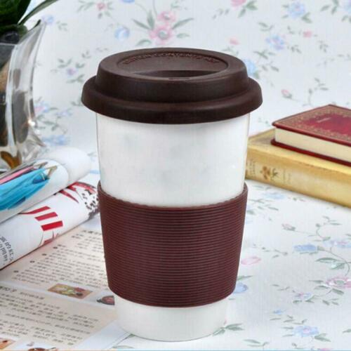 9x Outdoor Silicone Round Non-slip Water Bottle Mug Cup Sleeve Cover 6.5cm