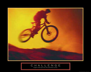 MOTIVATIONAL  POSTER PRINT PICTURE O CYCLING  INSPIRATIONAL