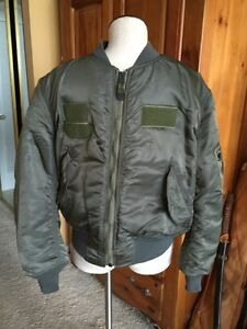 d146aa4ab96 RARE!1970s Vietnam War USAF MA-1 FLIGHT JACKET US Air Force Mil ...