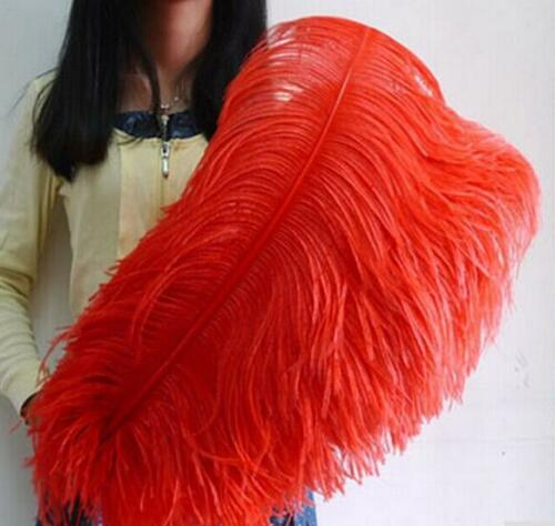Wholesale 10-50 pcs high quality natural OSTRICH FEATHERS 22-30 inch 55-75 cm