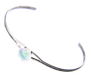 Dichroic-Cuff-Bracelet-ADJUSTABLE-Clear-Green-Teal-Fused-GLASS-Tiny-1-4-034-8mm