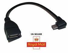Right Angle Micro USB Adapter OTG Host Cable Phone Archos Samsung Nokia Sony