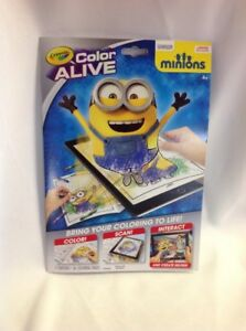 Details about Crayola Color Alive Minions Action Coloring Pages