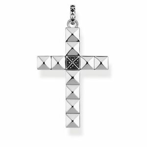 Thomas-Sabo-TPE810-Pyramid-Stars-Black-CZ-Cross-Pendant-Size-47mm-RRP-349